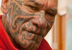 Archaic Maori Facial Tattoo
