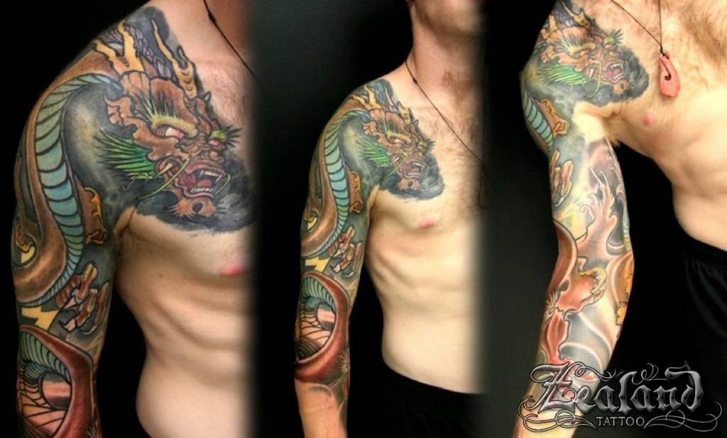 Full Japanese Sleeve Tattoo Zealand Tattoo